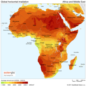 Such rate hikes are being seen across Africa. Credit: SolarGis